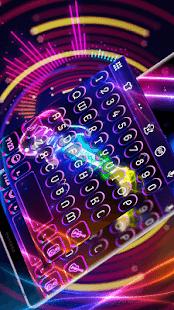 Neon Guitar Keyboard Skin - náhled