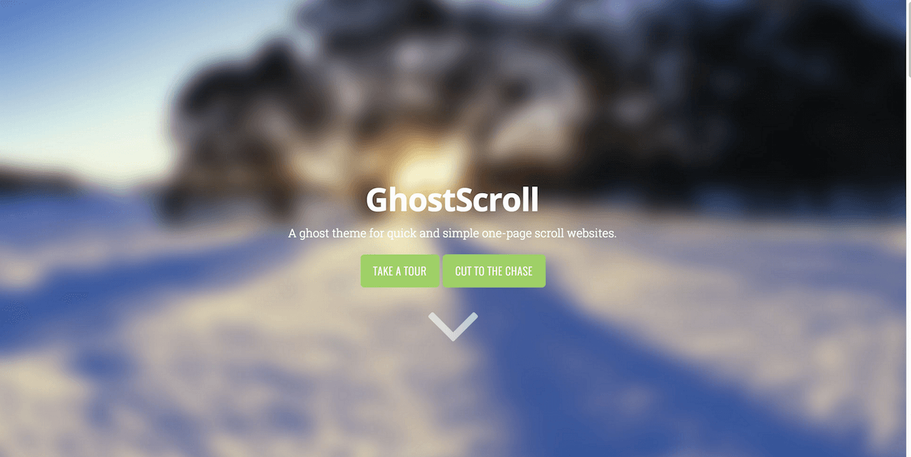 Quick and simple Ghost theme from GhostScroll