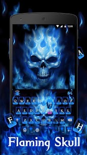 Flaming Skull Keyboard Theme 3