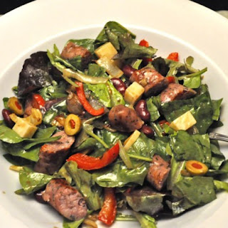 Sausage, Red Pepper and Red Bean Salad