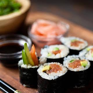 Easy Vegan Sushi with Tomato Spicy Tuna.