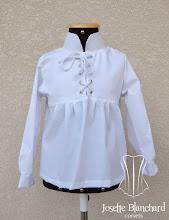 Photo: Camisa Medieval infantil em tricoline.    Site: http://www.josetteblanchard.com/  Facebook: https://www.facebook.com/JosetteBlanchardCorsets/  Email: josetteblanchardcorsets@gmail.com josetteblanchardcorsets@hotmail.com