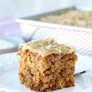 Raisin Oatmeal Sheet Cake.