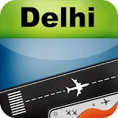 New Delhi Airport+Flight Track