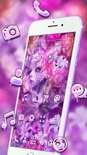 Lilac Goddess Mask Theme - náhled