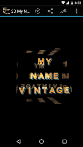 3D My Name Vintage Wallpaper screenshot 0