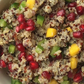 Colorful Warm Quinoa Salad.