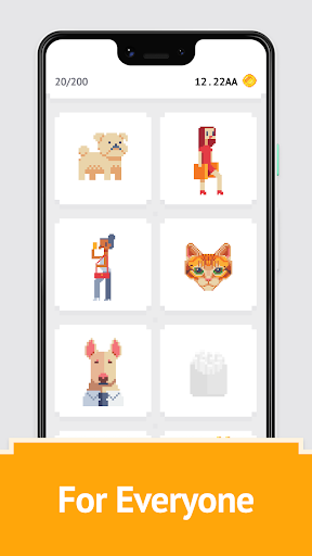 Idle Pixel Art Coloring - Tap tap to color clicker 1.0.2 Mod screenshots 4