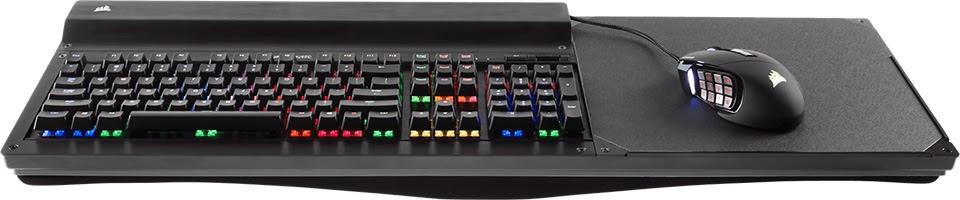 Corsair ra mắt Lapdog: lapboard dùng để chứa bàn phím và chuột, 3 cổng USB 3.0, giá 120 USD