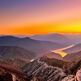 Kozjak sunset by Marko Gilevski - Landscapes Sunsets & Sunrises ( sunset, mountain peak, high altitude, panorama, kozjak )