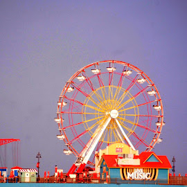 Ferris Wheel by Brenda Shoemake - City,  Street & Park  Amusement Parks