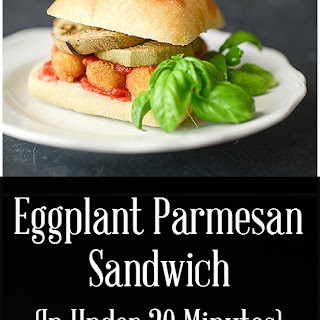 Easy Eggplant Parmesan Sandwich