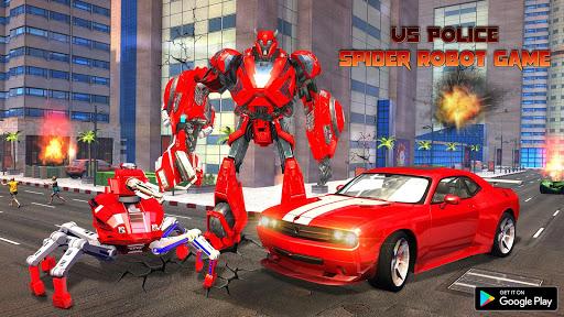 Spider Robot Car Transform Action Games  screenshots 11