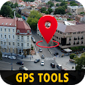 GPS Tools; Route planner Area Calculator & Compass icon