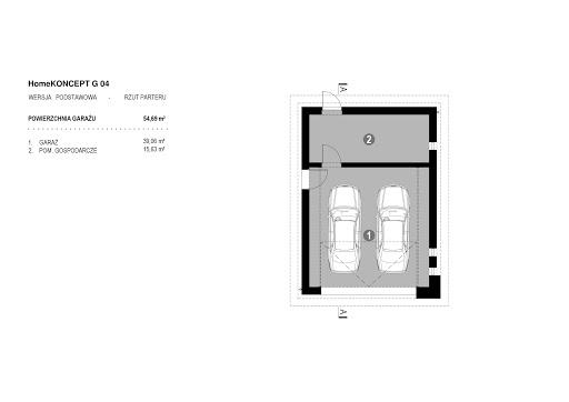Koncept G4 - Rzut garażu