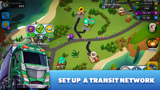 Transit King Tycoon Mod Apk (Free Shopping + Unlimited Money) 3.24 1