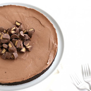 Chocolate Peanut Butter No Bake Cheesecake