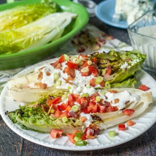 Grilled Romaine Wedge Salad with Blue Cheese Dressing.