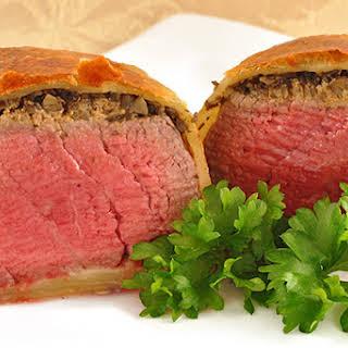 Individual Beef Wellingtons.