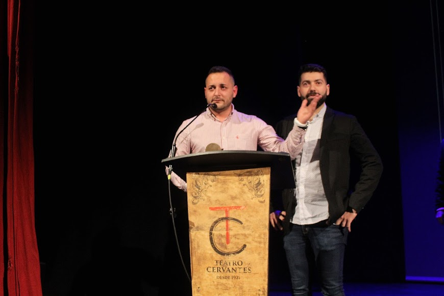 Galardonado en los Premios de la Noche Almeriense, durante su intervención.