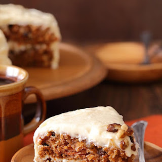 Carrot Cake Layer Cake with Buttermilk Cream Cheese Frosting.
