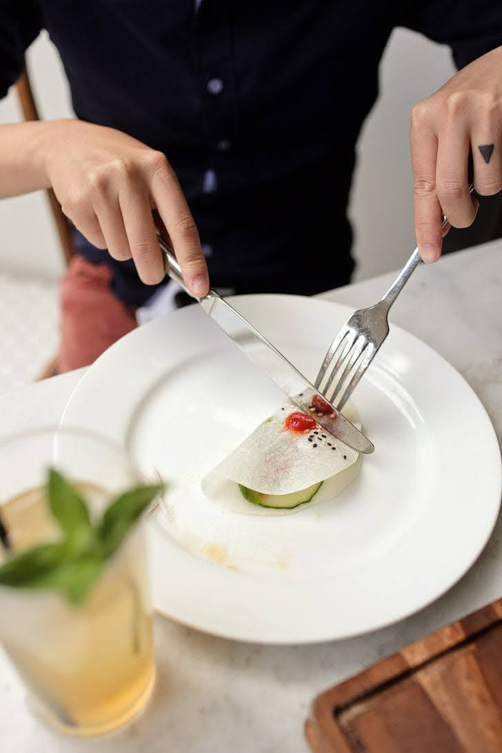 Ahi Tacos - The Hake La Jolla Dining.