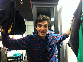 Photo: That one (out of two) time David ever went shopping for clothes. #overdue