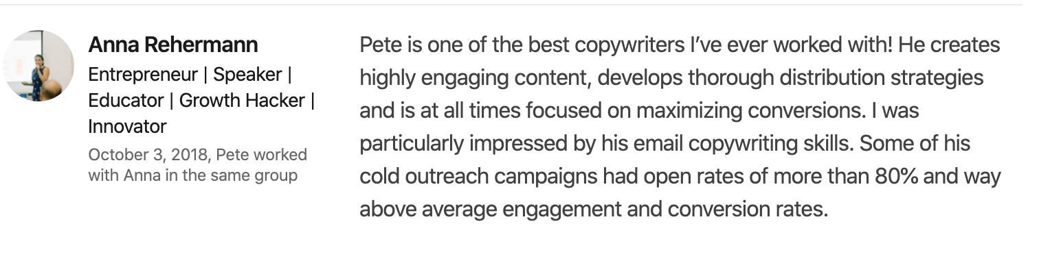 Best email copywriter