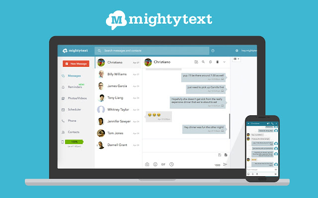 MightyText - SMS from PC & Text from Computer