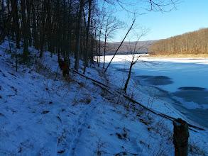 Photo: frozen lakeside hiking