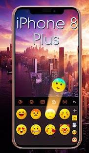 Phone 8 Plus Blush Gold Keyboard Theme - náhled