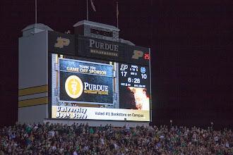 Photo: Football game - Purdue vs. Notre Dame