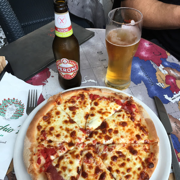 GF pizza and beer!