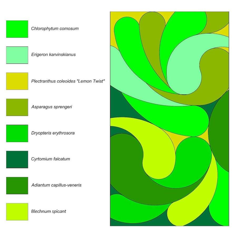 Diseño del jardin vertical de San Juan de Alicante