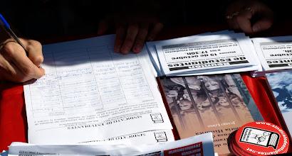 Photo: Mesa afiliación al Sindicato de Estudiantes