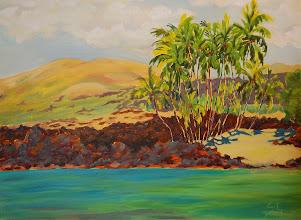 "Photo: ""Mahaiula's Ocean Blue"" - Mahaiula Beach 40"" x 30"" (avaialable from artist)"