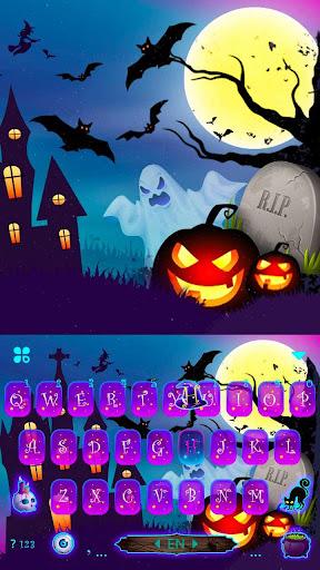 Halloween Pumpkin Keyboard Theme screenshots 5