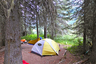 Photo: Our first night a the Kootenai Lakes campsite.