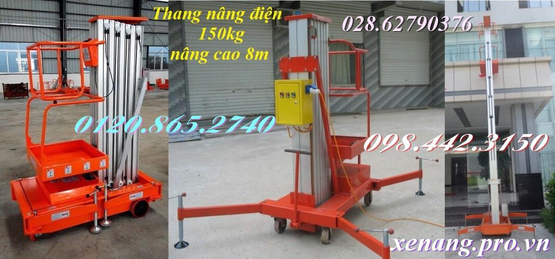 Thang nâng điện cao 8 mét tải 150kg