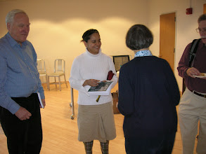 Photo: Irma Hernandez having a word with Julie Shaffer