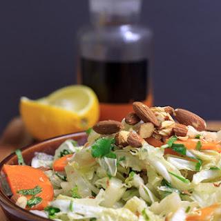 Hot and sour shredded Napa cabbage salad (v, gf, paleo).