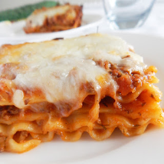 Meat and Cheese Lasagna.