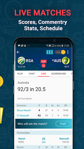 Cricnwin: Live Cricket Scores ,Play,Chat with Fans 5.31 screenshots 2