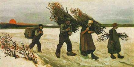 "Photo: Vincent Van Gogh, ""Portatori di arbusti nella neve"" (1884)"