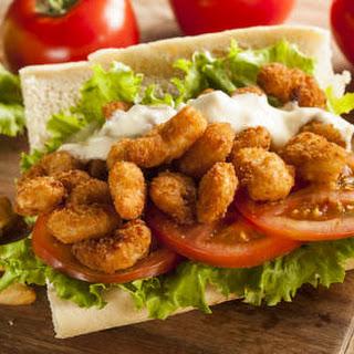 Fried Shrimp Po'boy Sandwich.