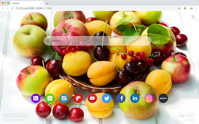 Cherry New Tab Page HD Fruits Top Themes
