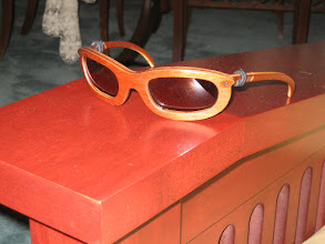 Photo: Wooden sunglasses. Not sure why. Was a fun project but spent way too much time on this one.