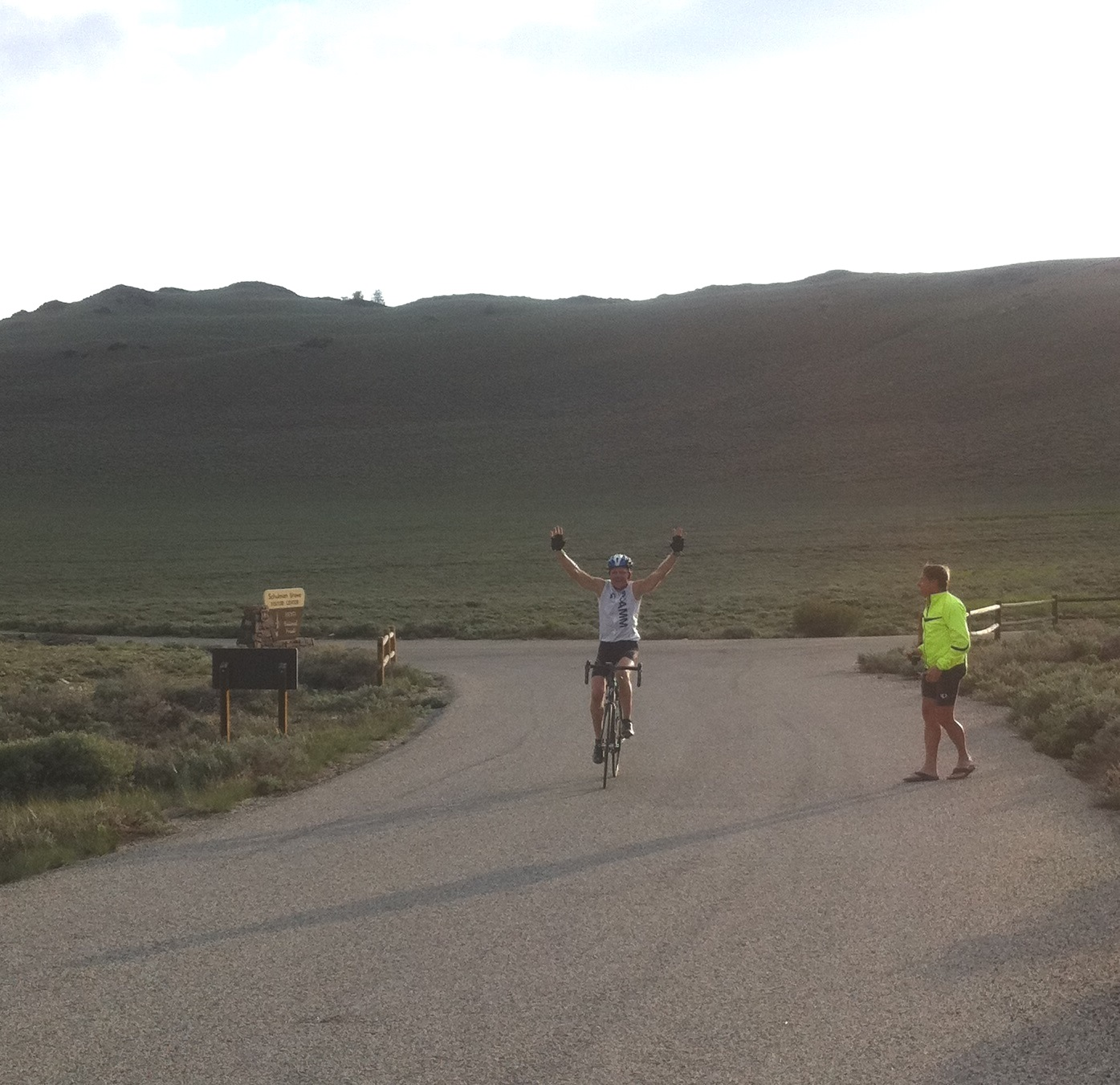 John Johnson rides Horseshoe Meadows Road, Whitney Portal Road, Onion Valley Road and White Mountain in Owens Valley in 1 day.