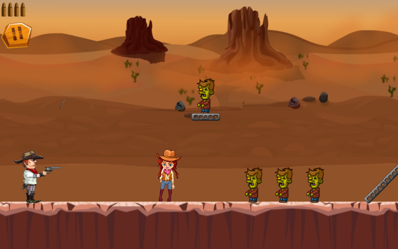 CowBoy Shoot Zombies- screenshot