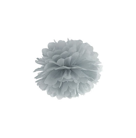 Pom pom - grå 25 cm